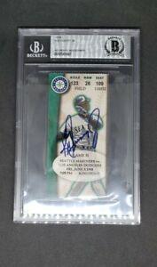 Ken Griffey, Jr. Signed Mariners Ticket June 5, 1998 vs. Dodgers Kingdome