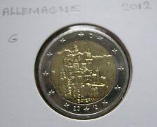 2 euro Commémorative - Allemagne 2012 10 Ans de L'Euro .G. Karlsruhe.Germany