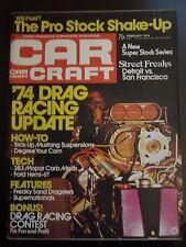 Car Craft Magazine February 1974 Drag Racing Update Pro Stock Shake Up AU D1