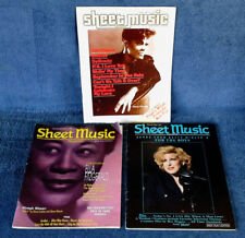 SHEET MUSIC MAGAZINE - DIONNE, ELLA, BETTE - COVER STORIES - (3) ISSUES