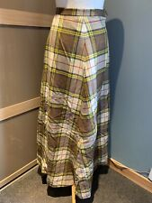 James Pringle Tartan Largo Maxi Falda Talla 10