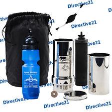 New Go Berkey Kit Water Filter System & Sport Berkey & Black Berkey Primer