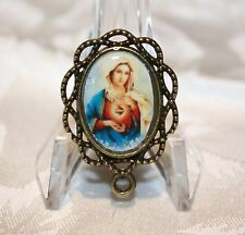 Custom Bronze Rosary Center Part/Color /Rosary Making/Immaculate Heart of Mary