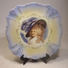 VICTORIAN LADY PORTRAIT PORCELAIN PLATE back stamp ~ GERMANY