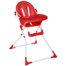 Chaise haute de bébé pour enfants grand confort rouge