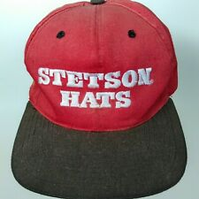 55a89c1bef0824 Vintage Stetson Red Cap / Hat With Leather Strapback