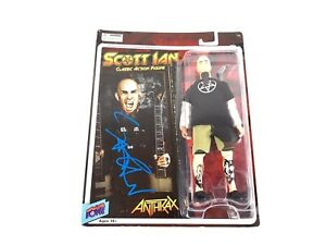 Scott Ian Rare Autographed Signed Action Figure Anthrax Them Damn Things MOC BAS