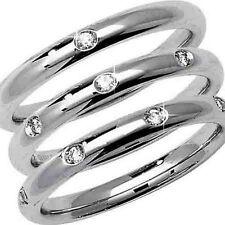 Anillos de joyería con diamantes en oro blanco VS2