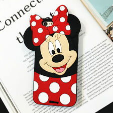3D Cartoon Disney Minnie Soft Silicone Rubber Case Cover Skin For iPhone Samsung