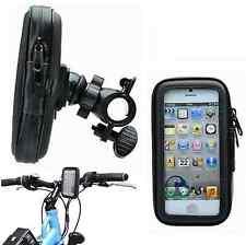 Bike Waterproof Motorcycle Zipper Handlebar Mount Holder Case For iPhone 5 5S 5C