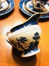 NIKKO IRONSTONE Double Phoenix JAPAN Blue Willow Creamer China Set Vintage
