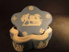 Wedgwood Star Shaped Trinket Box Blue/White Greek Horses