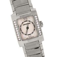 Montblanc Profile 7047 Stainless Steel Diamond White Dial Quartz Ladies Watch
