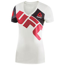 Reebok Women's Combat UFC Brock Lesnar Slim Fit Training Jersey - White/Red