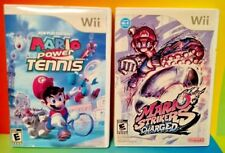 Mario Strikers Soccer + Power Tennis - Nintendo Wii Wii U 2 Game Lot 1-4 Players