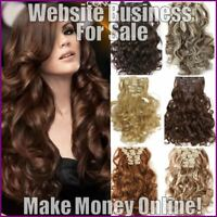 HAIR EXTENSIONS Website Earn £86 A SALE|FREE Domain|FREE Hosting|FREE Traffic