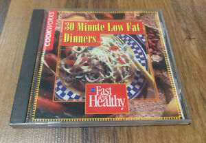 30 minute Low Fat Dinners (PC, 1995) Windows Pinpoint Recipe Cooking Software