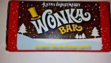 Una barra de chocolate muy Christmassy Willy Wonka billete de oro dentro de Gran Regalo