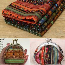 4PCS Ethnic Pre-Cut Fat Quarters Bundle Sewing Cotton Quilt Fabric 50cm*70cm