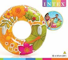 Intex Inflatable Tube Float Flower Transparent Raft Groovy Color 58263EP 38""