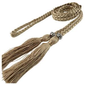 Chinese Braided Style Woven Tassel Belt Knot Decorated Waist Chain Waist Rope
