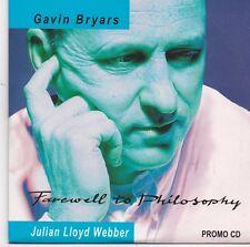 Gavin Bryars-Farewell To Philosophy promo cd single