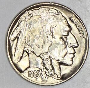 1938-D Buffalo Nickel; Lustrous Choice BU