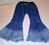 Hippy Flare Leg Girls Jeans size 7 Adorable - FREE SHIPPING