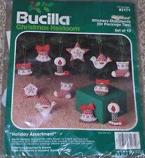 Bucilla Felt / Jeweled Xmas Stitchery Ornaments Kit NIP Stocking Bell Dove Star+