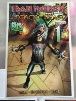 SDCC Iron Maiden legacy of the beast promotional postcards
