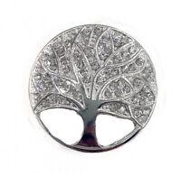 Lebensbaum Silber Rahmen Magnet Brosche Magnetbrosche Strass Schal Bekleidung
