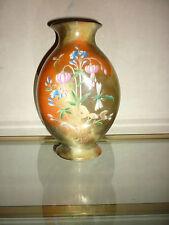 Vase verre opaline polychrome Cristal Signé Saint Louis XIX Jean-François ROBERT