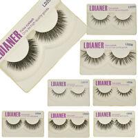 100% Real Mink Thick Natural False Eyelashes Fake Eye Lashes Makeup Extension HS