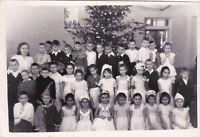 1964 New Year Feast at School children boys girls fashion Soviet Russian photo