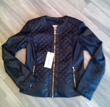 NWT COLE HAAN Signature Black Leather Ladies Sz- S Coat Jacket 356SP-154