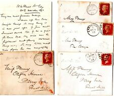 More details for 1873 love letters x 21 thomas guillaume, 186 fleet street to ada fanny penny