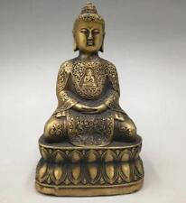 Exquisite OLD Collect Tibetan Buddhism brass handicraft sakyamuni Buddha statue