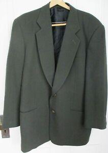 Giorgio Armani Black Label Vintage Dark Green Three Roll Two Suit 42R - Blazer