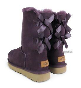 UGG Bailey Bow II Port Suede Fur Boots Womens Size 10 *NIB*