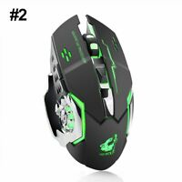 2.4GHz Wireless LED Backlit USB Optical Ergonomic Gaming Mouse Mice Rechargeable