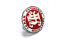 RED JAPAN AUTOMOBILE FEDERATION JAF BADGE EMBLEM ALUMINUM JDM logo