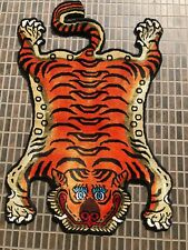 Tibetan silk small Tiger skin rug