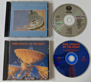 DIRE STRAITS 2 CD Lot BROTHERS IN ARMS Brazil VERTIGO On The Night LIVE Concert
