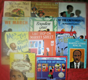 Lot of 13 African American Children's Picture Books Black History TEACHERS CLASS