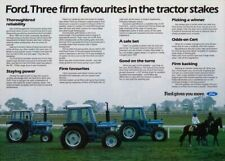 FORD 7610 6610 5610 TRACTOR SALES BROCHURE/POSTER 80's ADVERT ULTRA RARE A3!