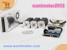 De ship! 3axis Wantai stepper motor nema 23 270oz-in 6-lead + Driver Board cnc Kit