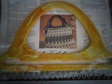 Vintage Purse Handle Macrame Crochet Yellow Marble Purse N Able  NOS