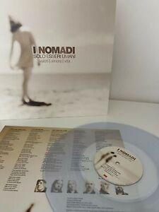 I NOMADI - SOLO ESSERI UMANI - LP TRASPARENTE NUOVO SIGILLATO 2021