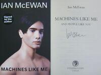 Signed Book Machines Like Me by Ian McEwan First 1st edition Hardback 2019