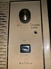 Vintage NuTONE Intercom SPEAKER w/ CONTROLS Model # 2027